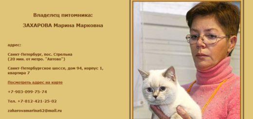 Непорядочный заводчик кошек Марина Захарова